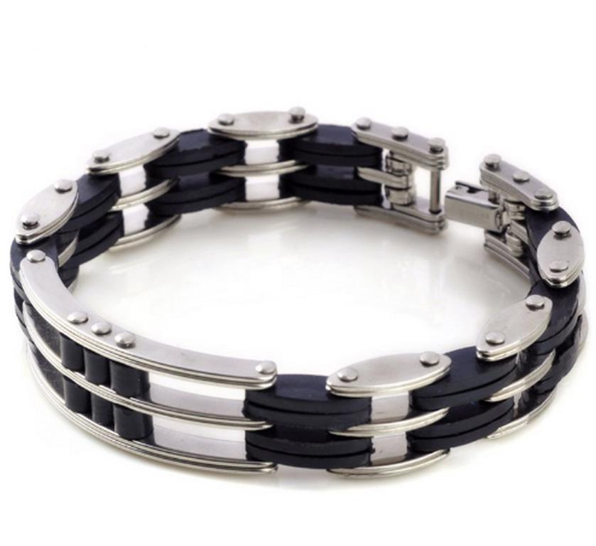 Ziskoun Náramek z chirurgické oceli - trojitý řetěz CB000085
