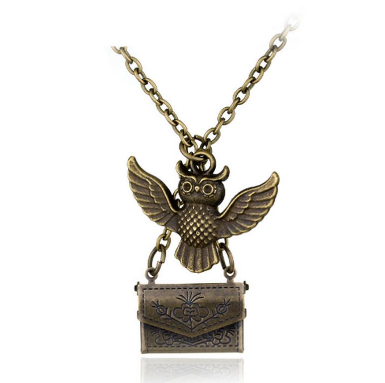 Ziskoun Náhrdelník s přívěskem Sovy z Harryho Pottera- vintage style PN0000129