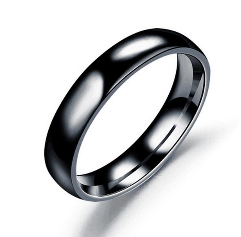 Ziskoun Prsten z chirurgické oceli- Classic- černý SR00006 Velikost: 12