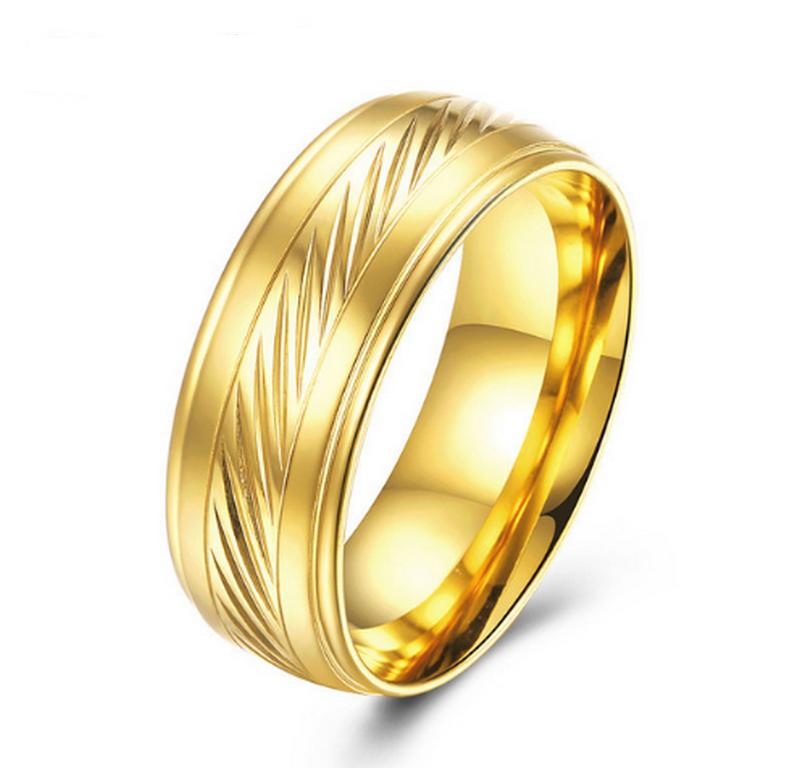 Ziskoun Prsten ve zlaté barvě z chirurgické oceli Scraped SR00014 Velikost: 7