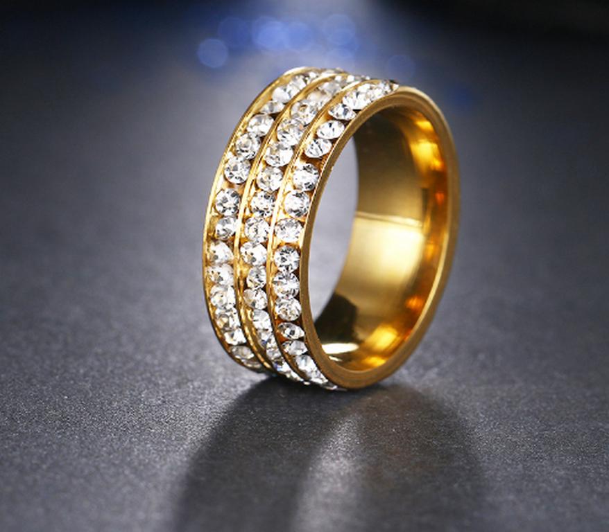 a8f41975e Zlatý prsten z chirurgické oceli s malými zirkony čiré…, sleva 33%,  Ziskoun.cz   SlevyDnes.cz
