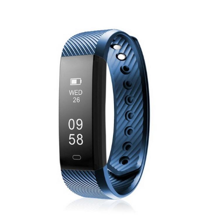 Ziskoun Fitness náramek M115 HR Plus- 5 barev SMW00022 Barva: Modrá
