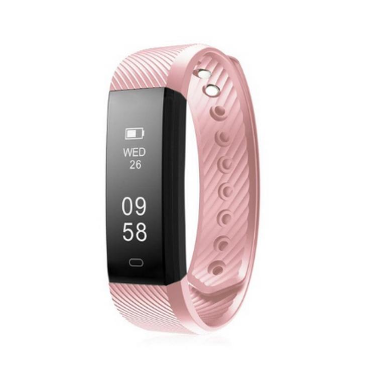 Ziskoun Fitness náramek M115 HR Plus- 5 barev SMW00022 Barva: Růžová
