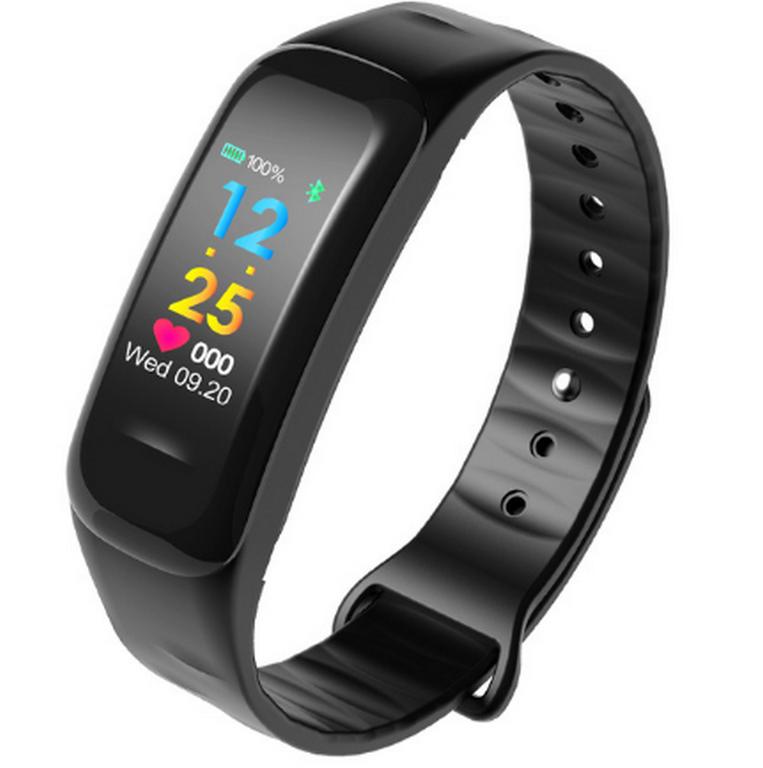 Ziskoun Sportovní hodinky- fitness náramek C18- 3 barvy SMW00027 Barva: Černá