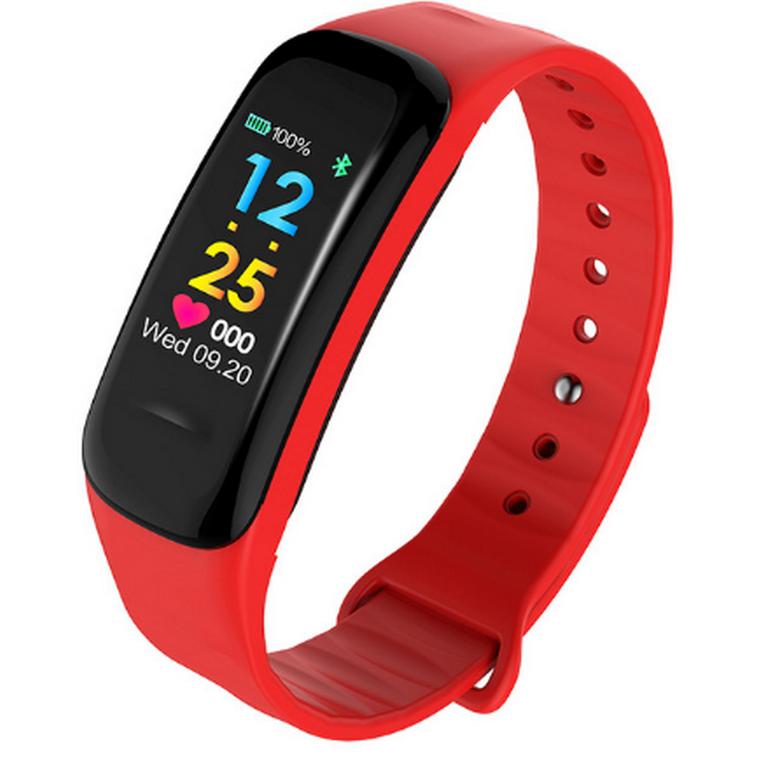 Ziskoun Sportovní hodinky- fitness náramek C18- 3 barvy SMW00027 Barva: Červená