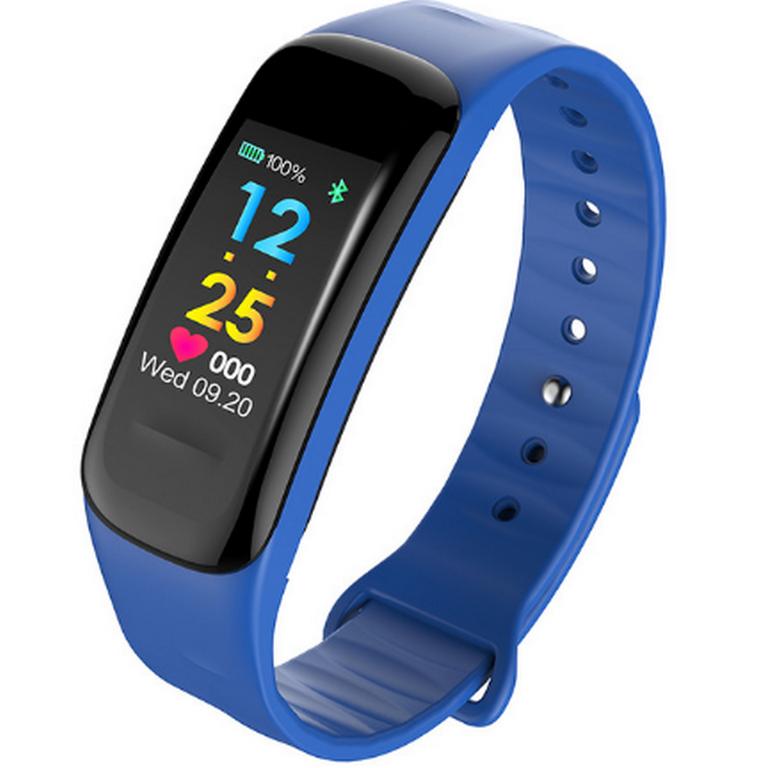 Ziskoun Sportovní hodinky- fitness náramek C18- 3 barvy SMW00027 Barva: Modrá
