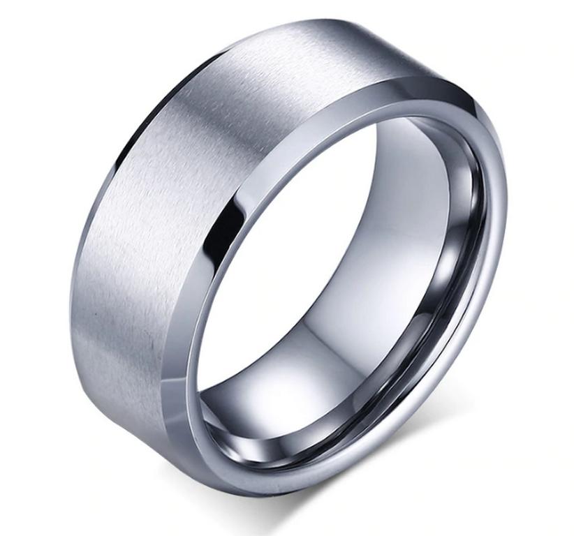 Ziskoun Prsten z broušené chirurgické oceli stříbrný SR000071 Velikost: 12