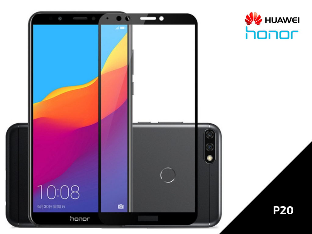 Ziskoun Ochranné sklo černé Full Cover pro Huawei P20 TVSK50