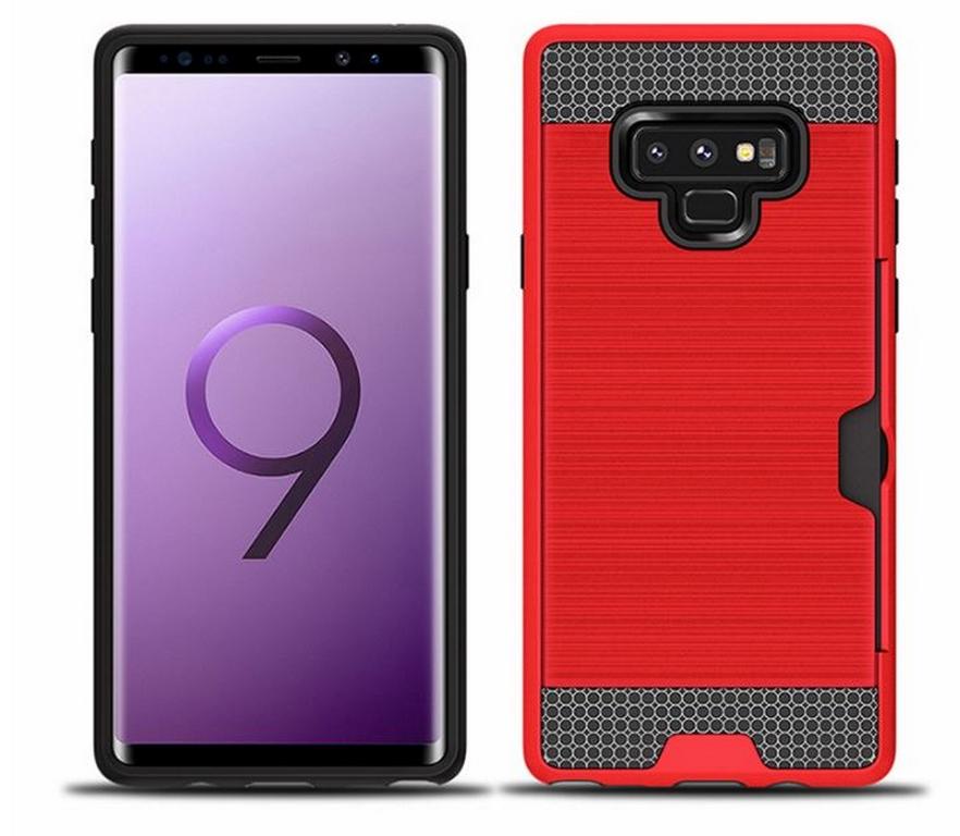 Ziskoun Hybridní odolný obal na Samsung NOTE 9 PZK4 Barva: Červená