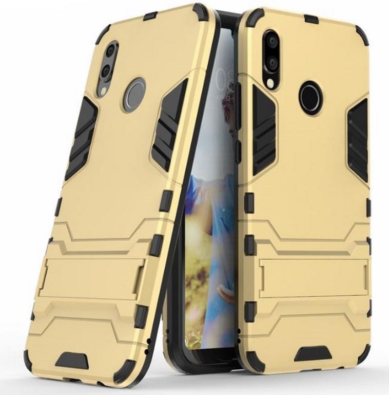Ziskoun Army pevný zadní kryt se stojánkem pro Huawei P20 Lite PZK25 Barva: Zlatá