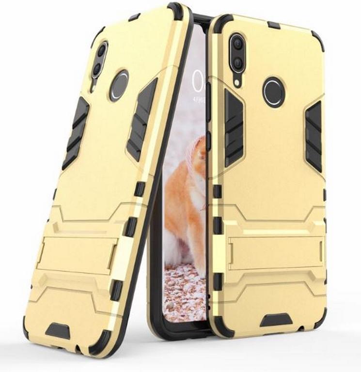 Ziskoun Army pevný zadní kryt se stojánkem pro Huawei Nova 3 PZK32 Barva: Zlatá