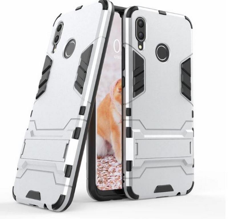 Ziskoun Army pevný zadní kryt se stojánkem pro Huawei Nova 3 PZK32 Barva: Stříbrná