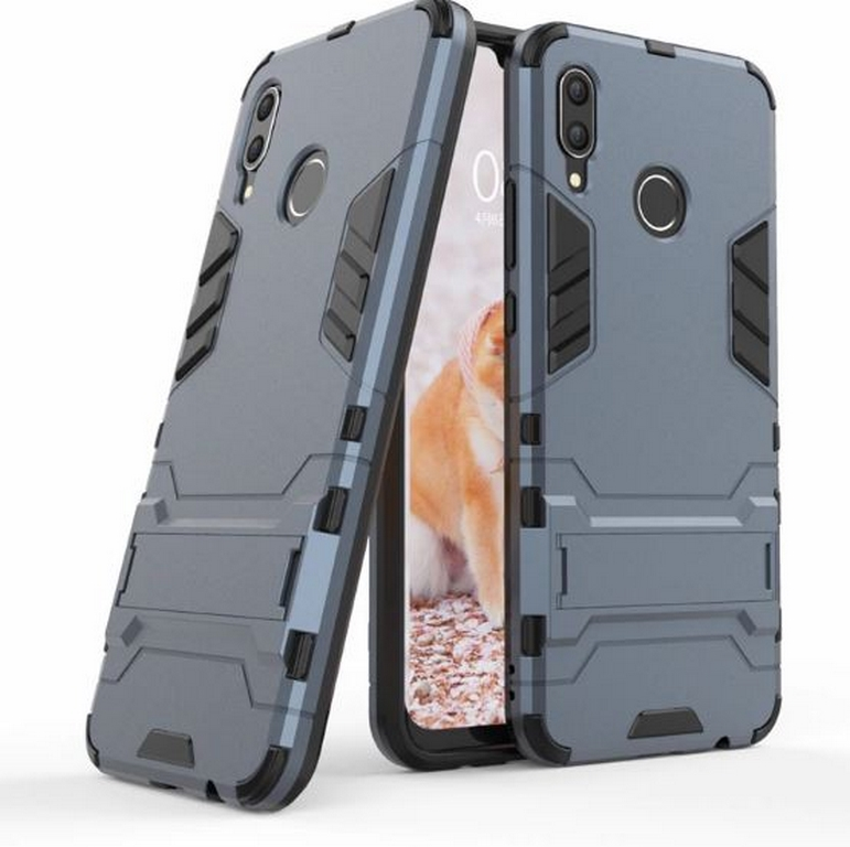 Ziskoun Army pevný zadní kryt se stojánkem pro Huawei Nova 3 PZK32 Barva: Modrá
