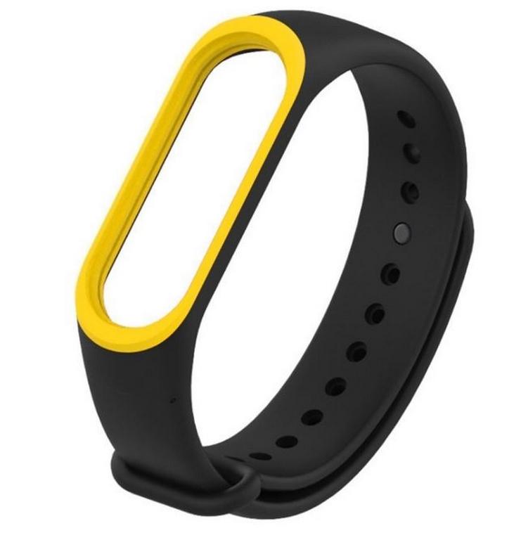 Ziskoun Náhradní řemínek pro Xiaomi Mi Band 3/ Mi Band 4 SWB9 Barva: Černá/Žlutá