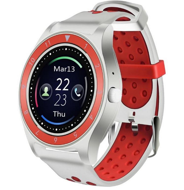 49ff06273 Ziskoun.cz Smartwatch- chytré hodinky R10 SMW40 Barva: Bílá- Červená