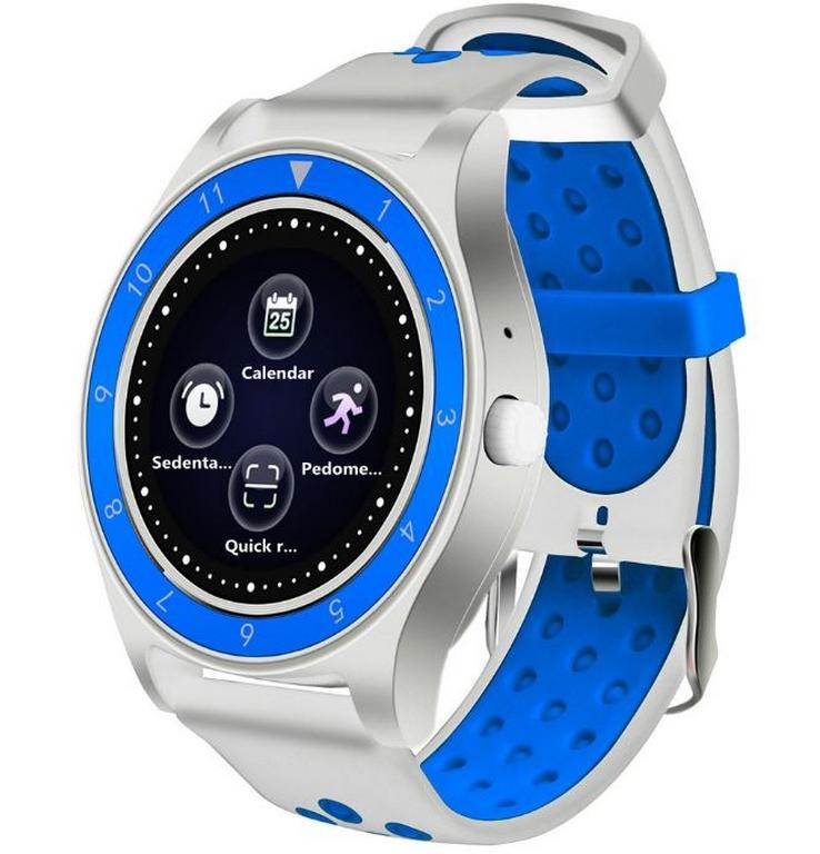 Ziskoun.cz Smartwatch- chytré hodinky R10 SMW40 Barva: Bílá- Modrá
