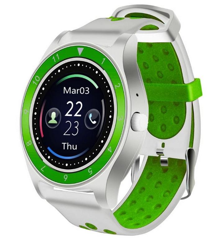 Ziskoun Smartwatch- chytré hodinky R10 SMW40 Barva: Bílá- Zelená