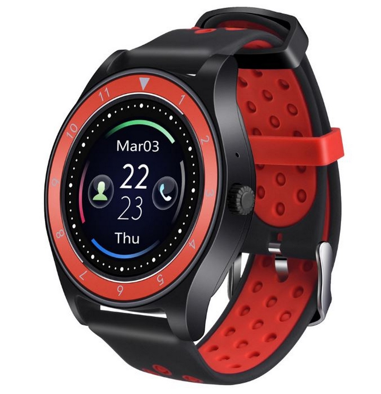 Ziskoun Smartwatch- chytré hodinky R10 SMW40 Barva: Černá- Červená