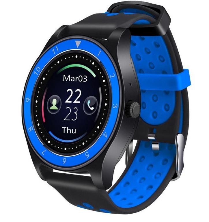 Ziskoun Smartwatch- chytré hodinky R10 SMW40 Barva: Černá- Modrá