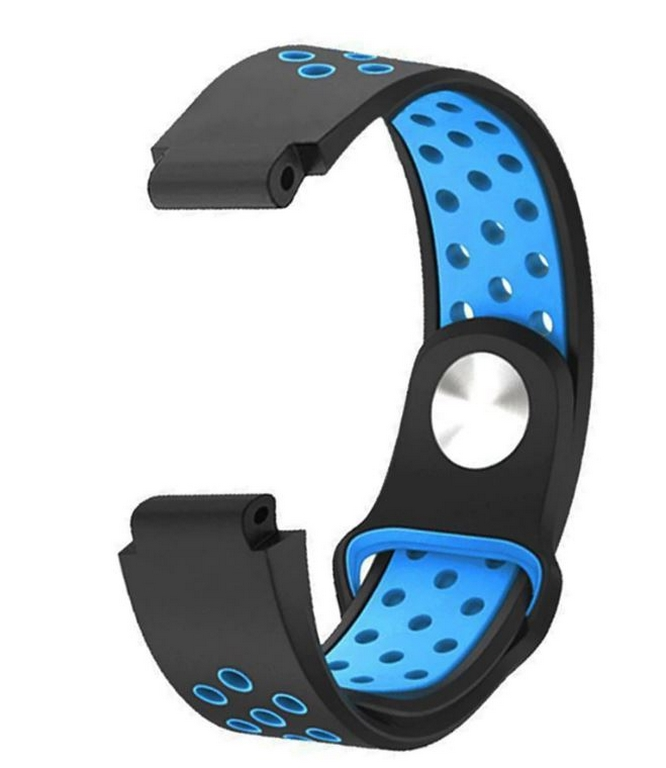 Ziskoun Náhradní řemínek pro Garmin Forerunner 220 230 235 620 630 735XT SBW10 Barva: Modrá