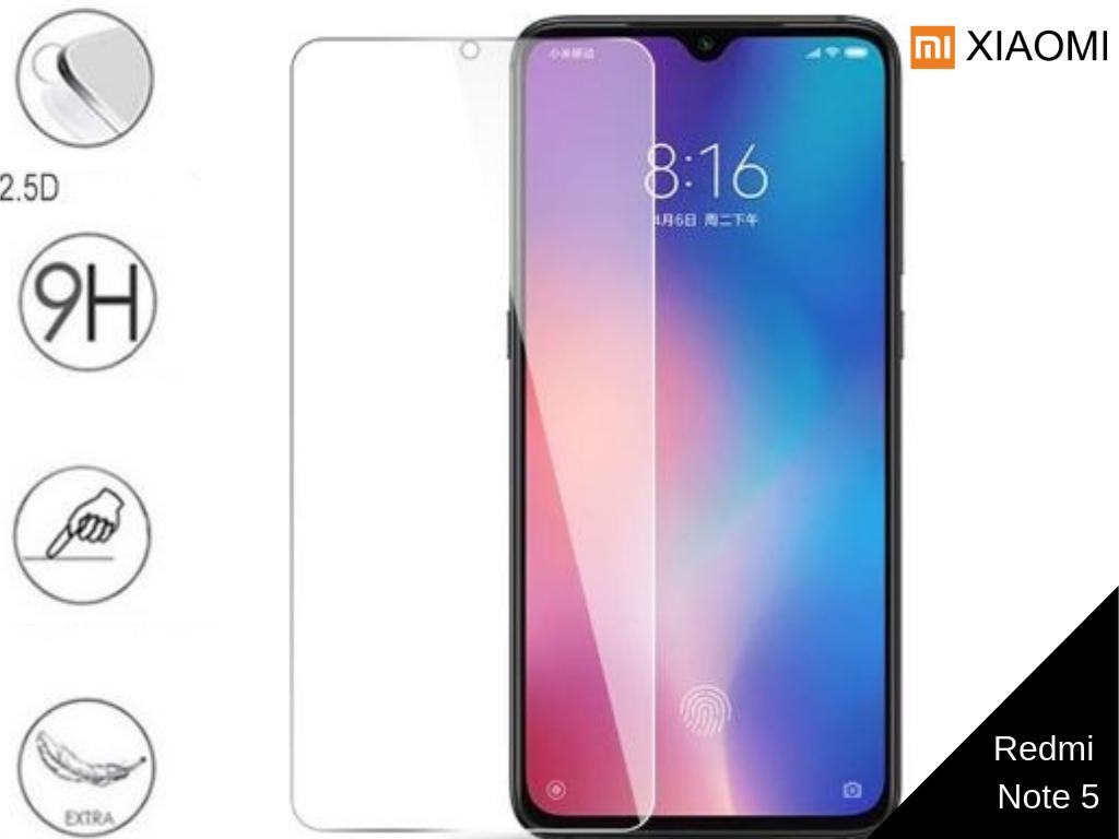 Ziskoun Tvrzené bezrámečkové ochranné sklo 9H pro Xiaomi Redmi Note 5 TVSK70