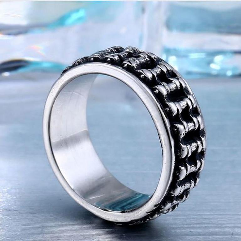 a4278e1e4 Smartuj Masivní řetěz- prsten z chirurgické oceli SR152 Velikost: 10