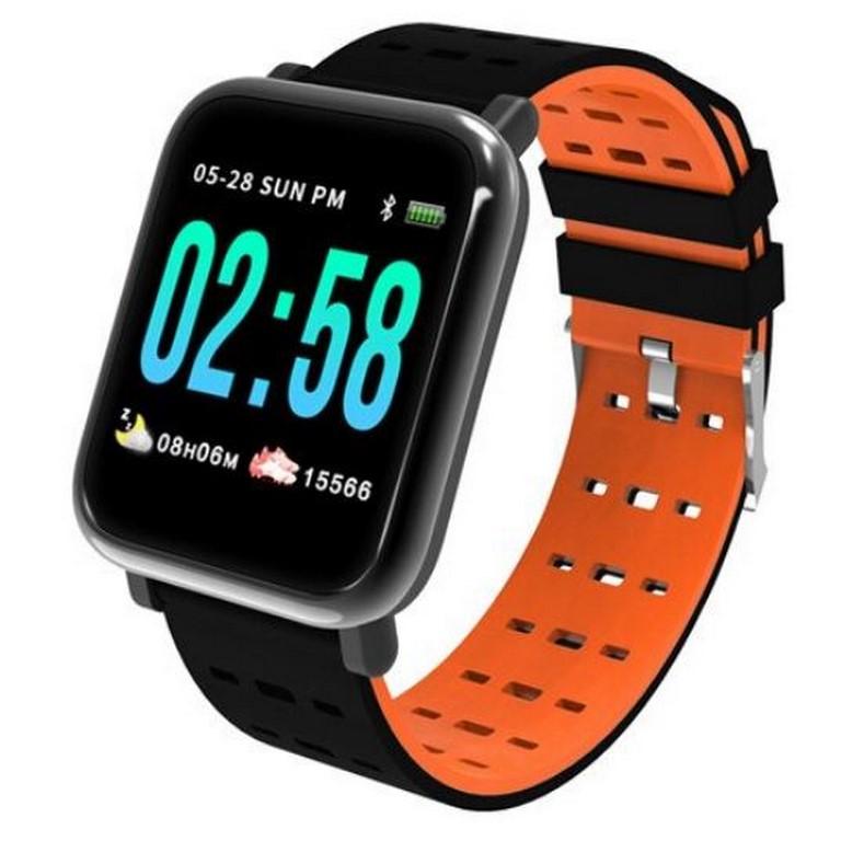 Ziskoun Fitness náramek A6- 5 barev SMW44 Barva: Oranžová