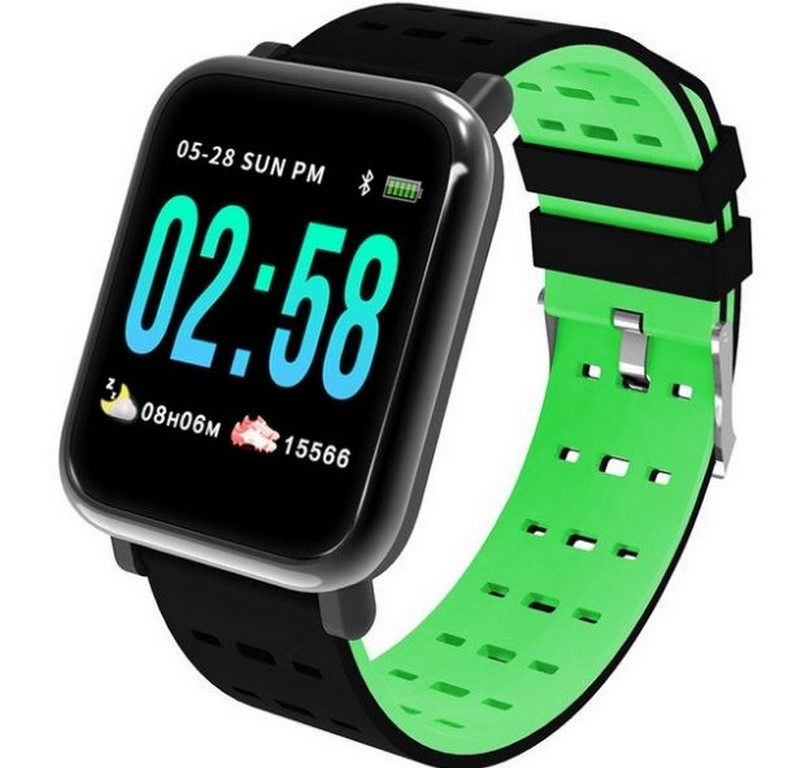 Ziskoun Fitness náramek A6- 5 barev SMW44 Barva: Zelená