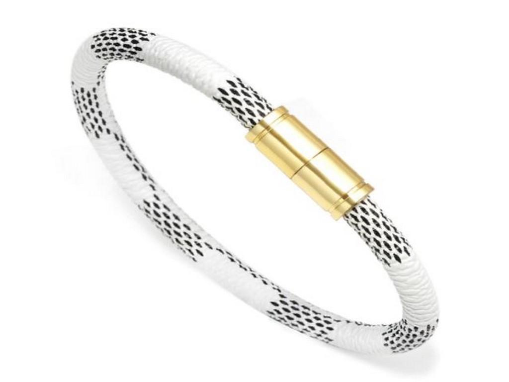 Levně Magnetický kožený náramek SSB147 Barva: Bílá