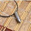 Kožený řetízek s přívěskem nábojnice z chirurgické oceli- 2 barvy PN000148 (Barva Stříbrná)
