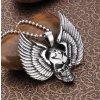 Náhrdelník Scull s křídly z chirurgické oceli PN183