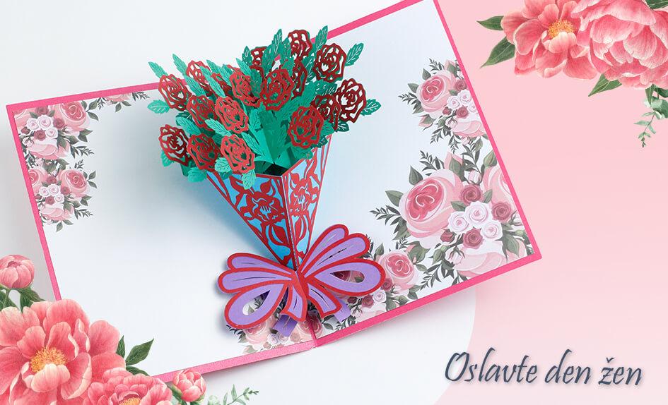 3D přání Puget červených růží - Mezinárodní den žen - MDŽ