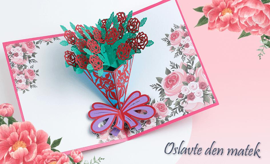 3D přání Puget růží - kytice červených růží