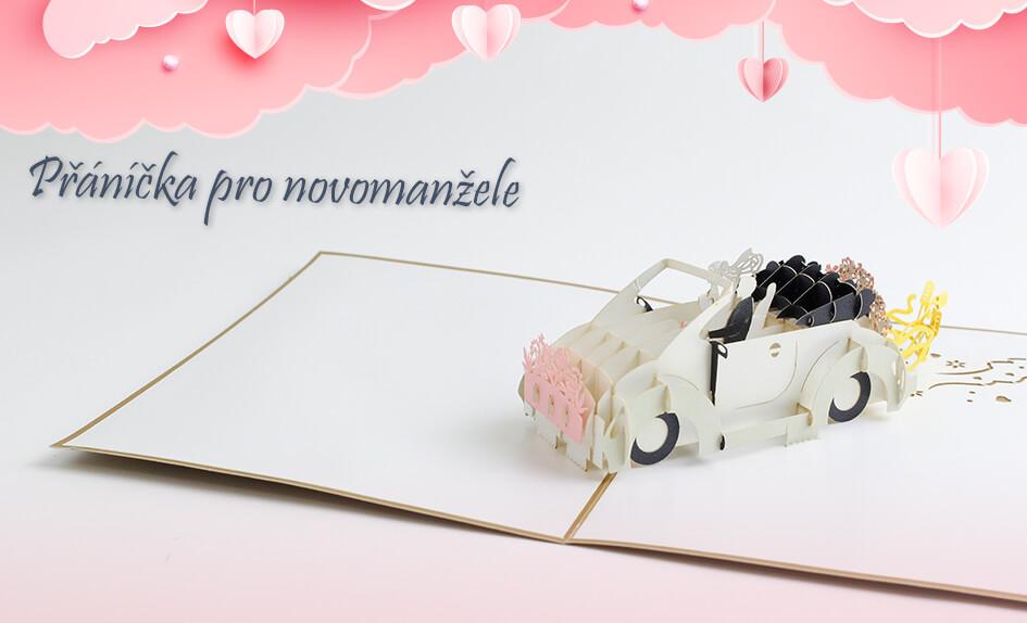 3D přáníčko pro novomanžele - 3D přání Svatba