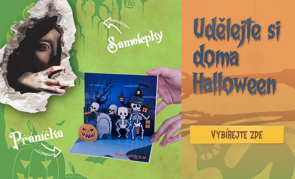 Halloween - Samolepky na zeď a 3D přáníčka