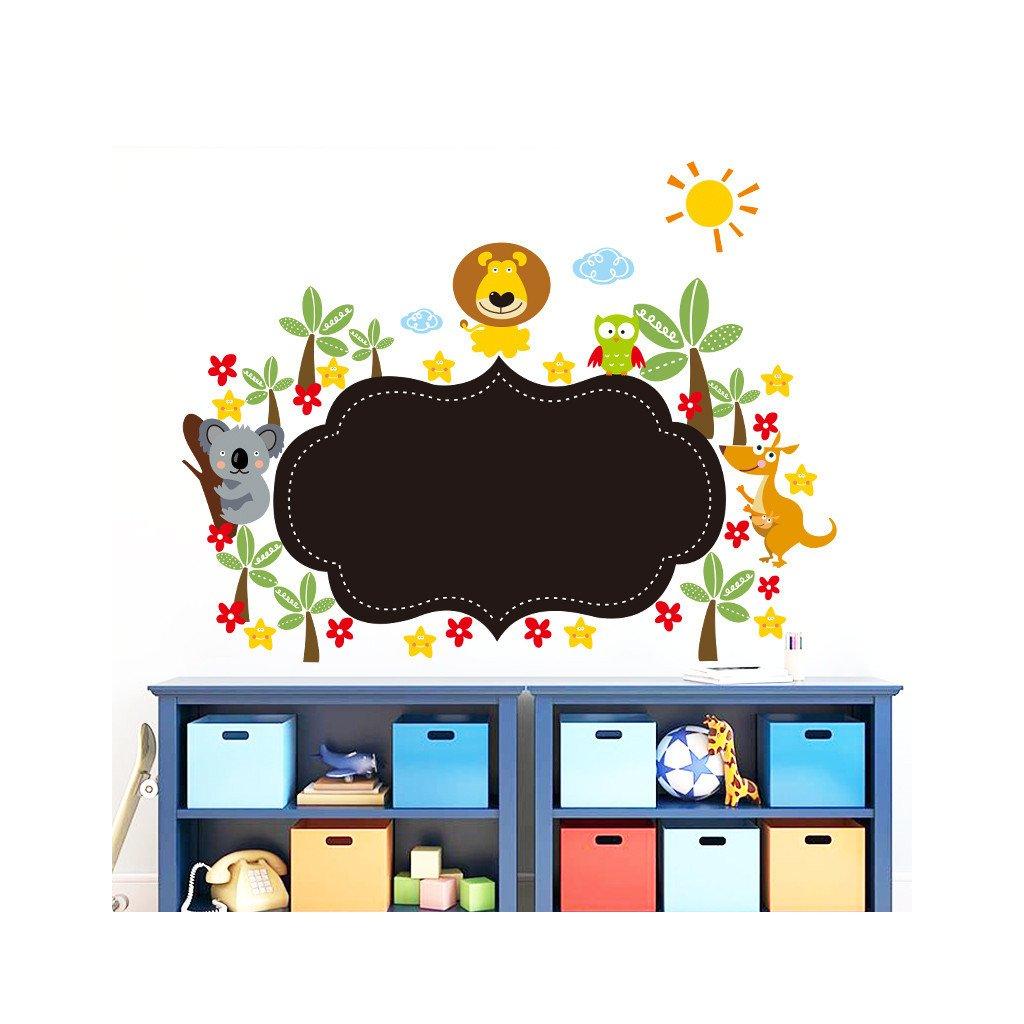 samolepka na zeď Malá tabule na zeď se zvířátky