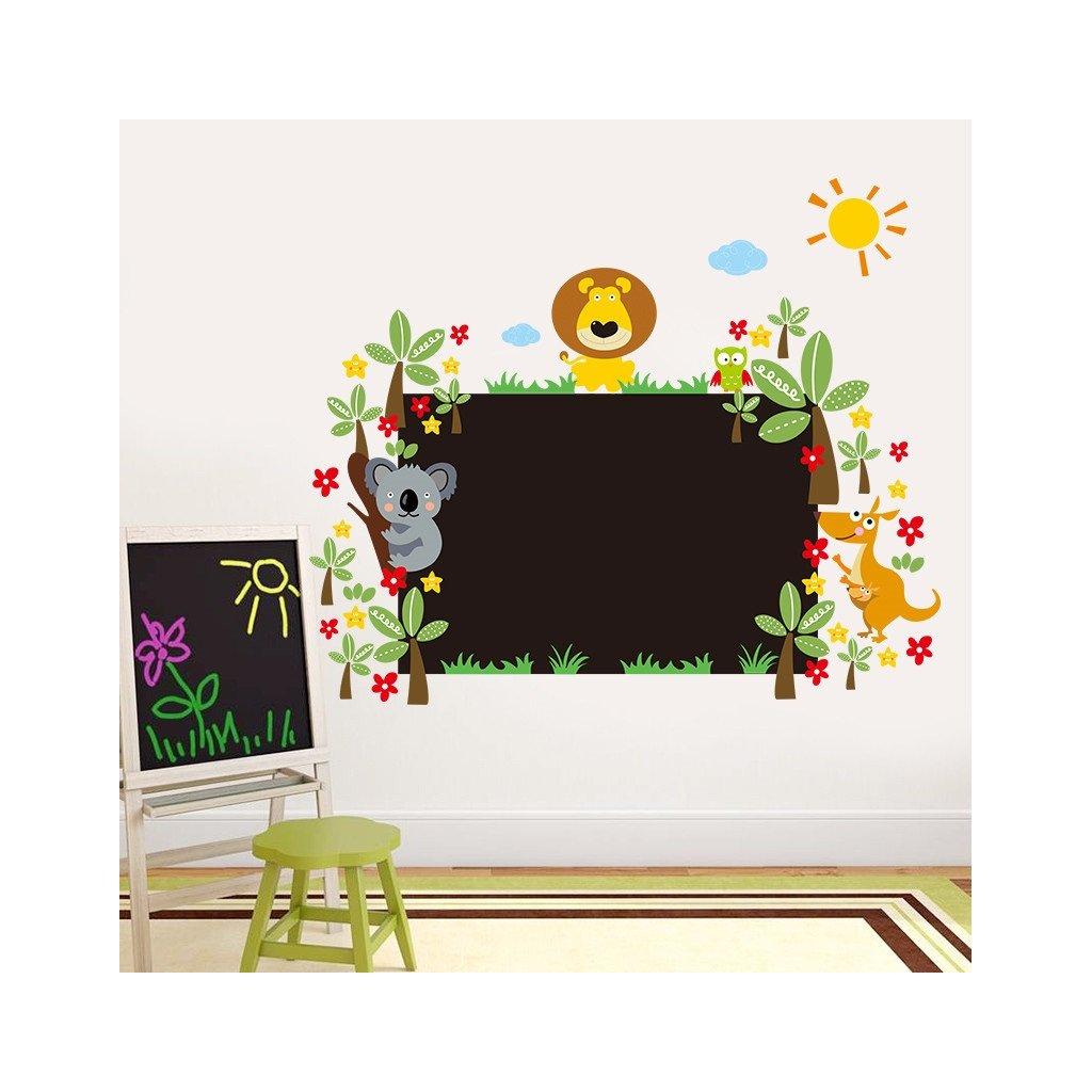 samolepka na zeď Velká tabule na zeď se zvířátky