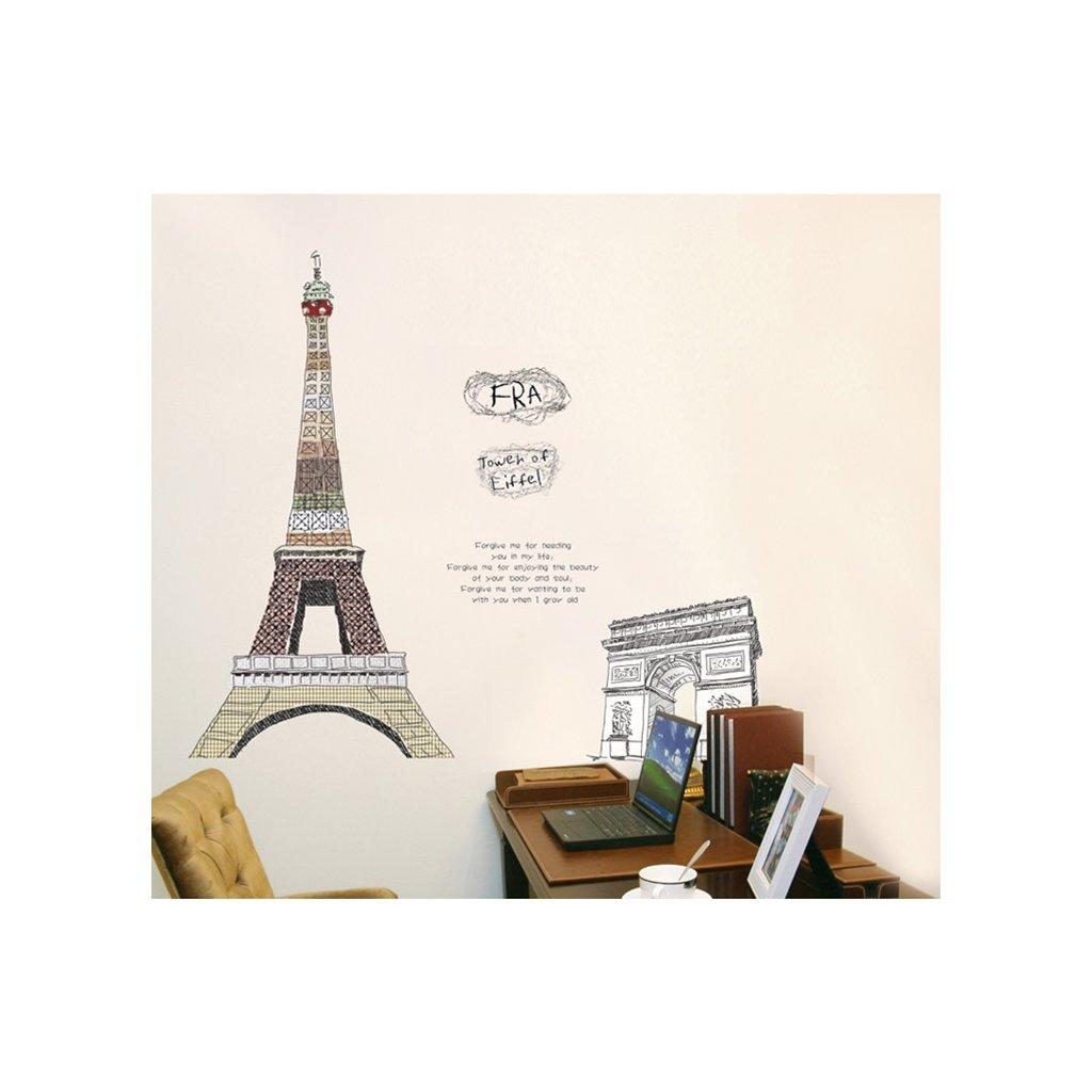 Samolepka na zeď Eiffelova věž