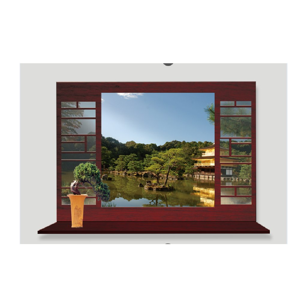 Samolepka na zeď Okno do Asie v létě
