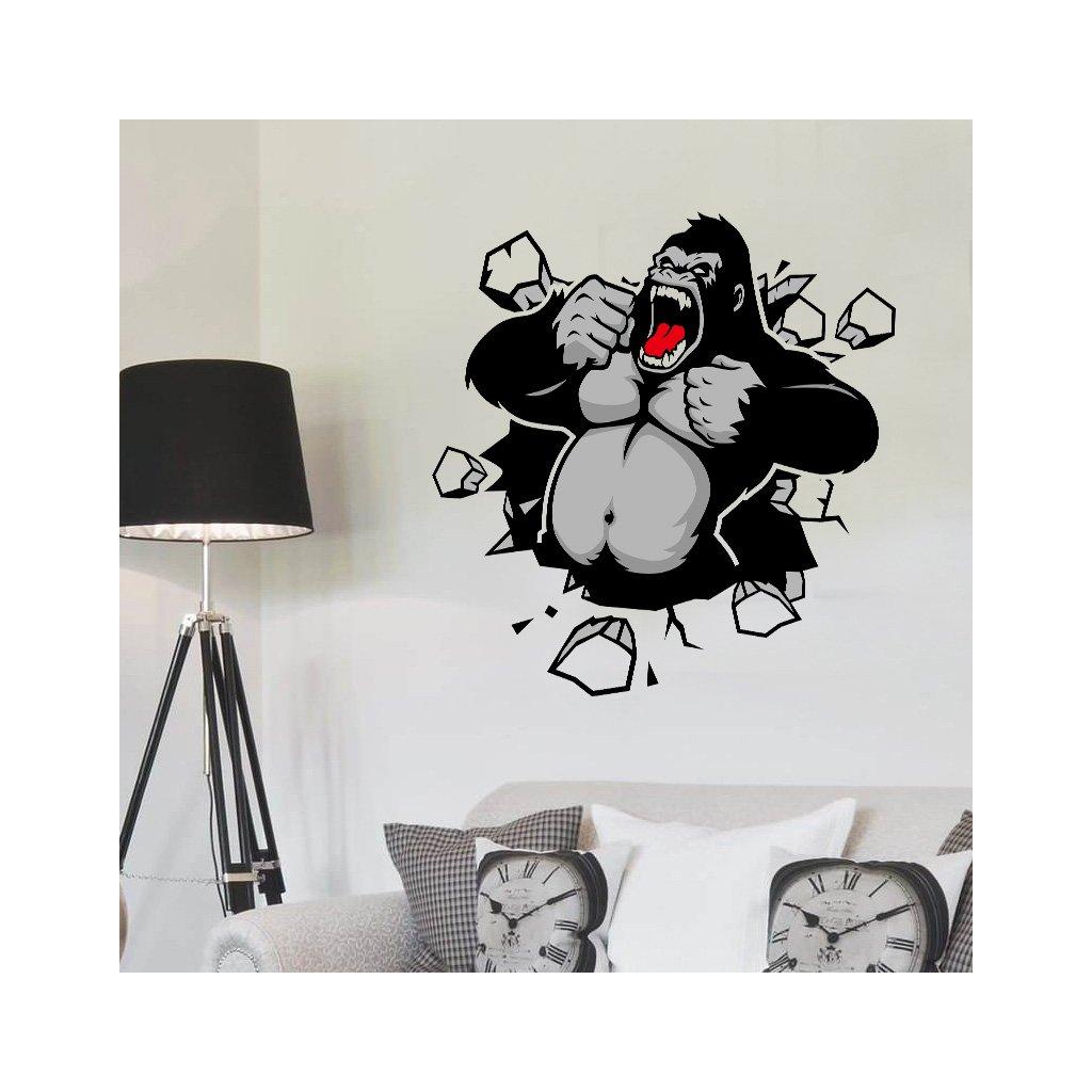 Samolepka na zeď Gorila