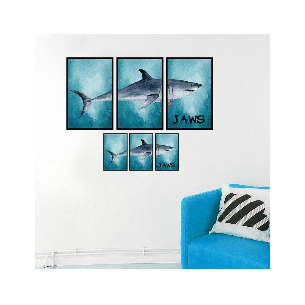 Samolepka na zeď Žralok