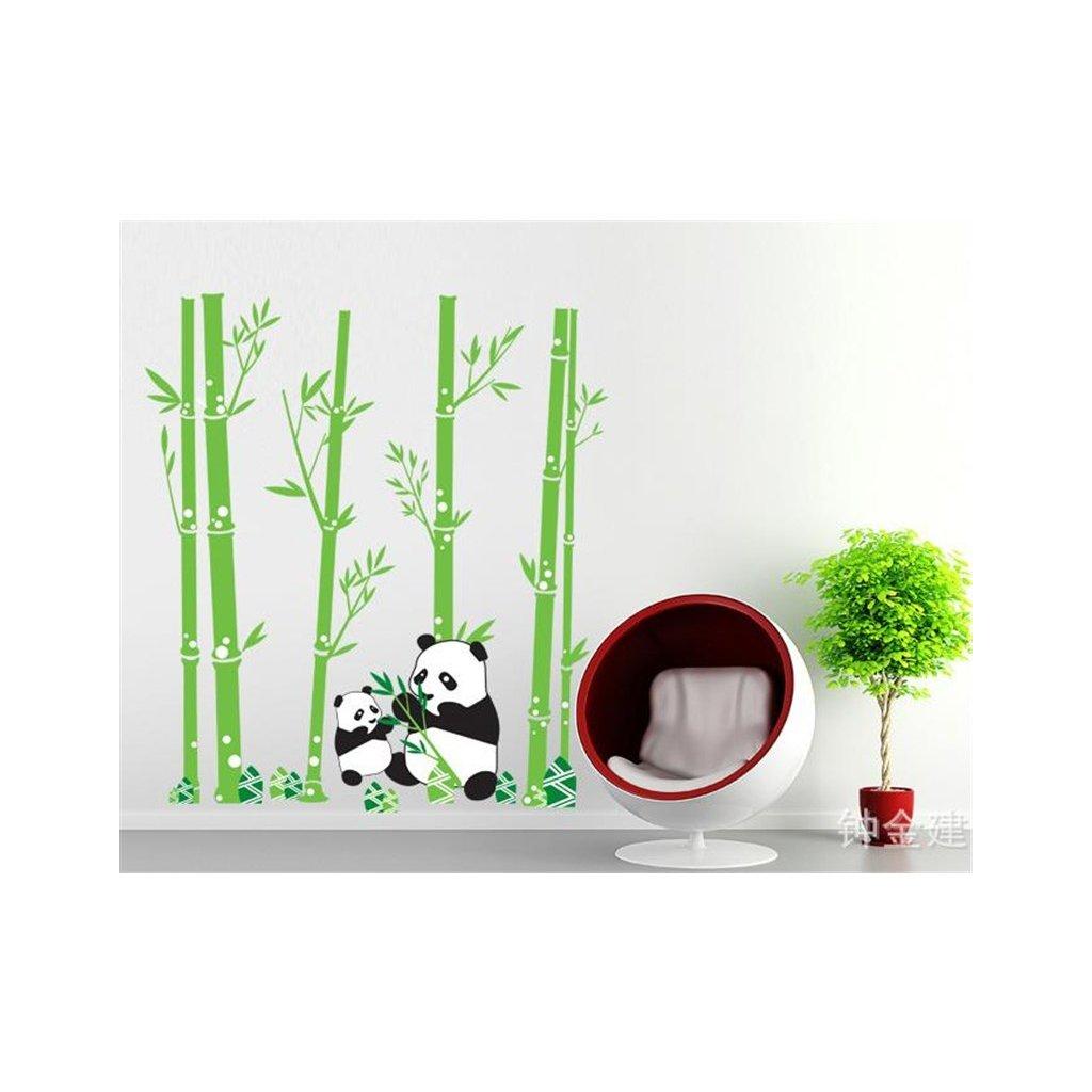 Samolepka na zeď Pandí rodinka