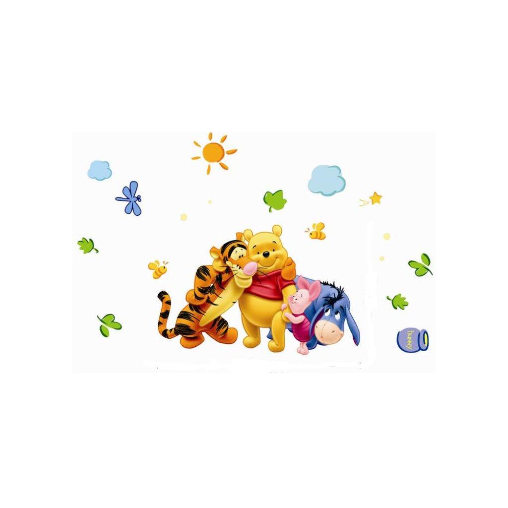 samolepka na zeď Medvídek Pú s přáteli