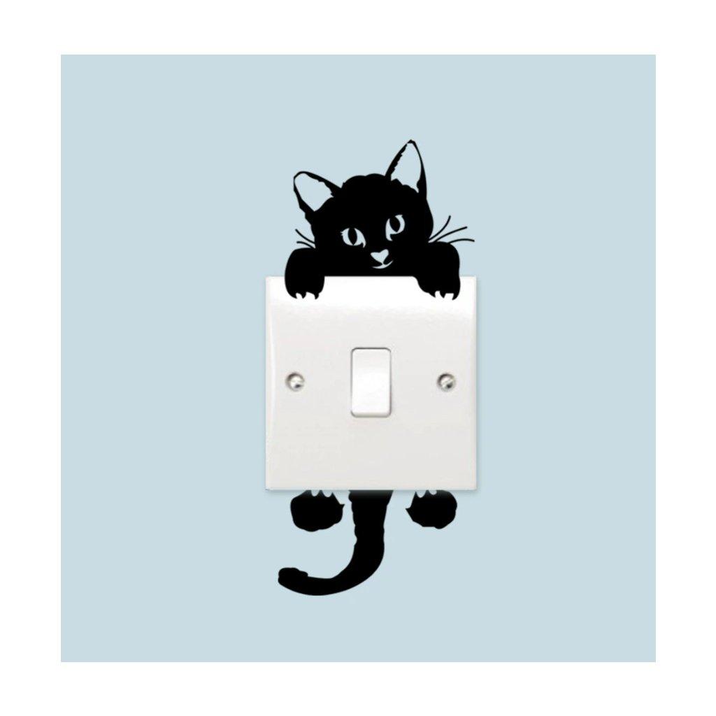 Samolepka na zeď Kotě