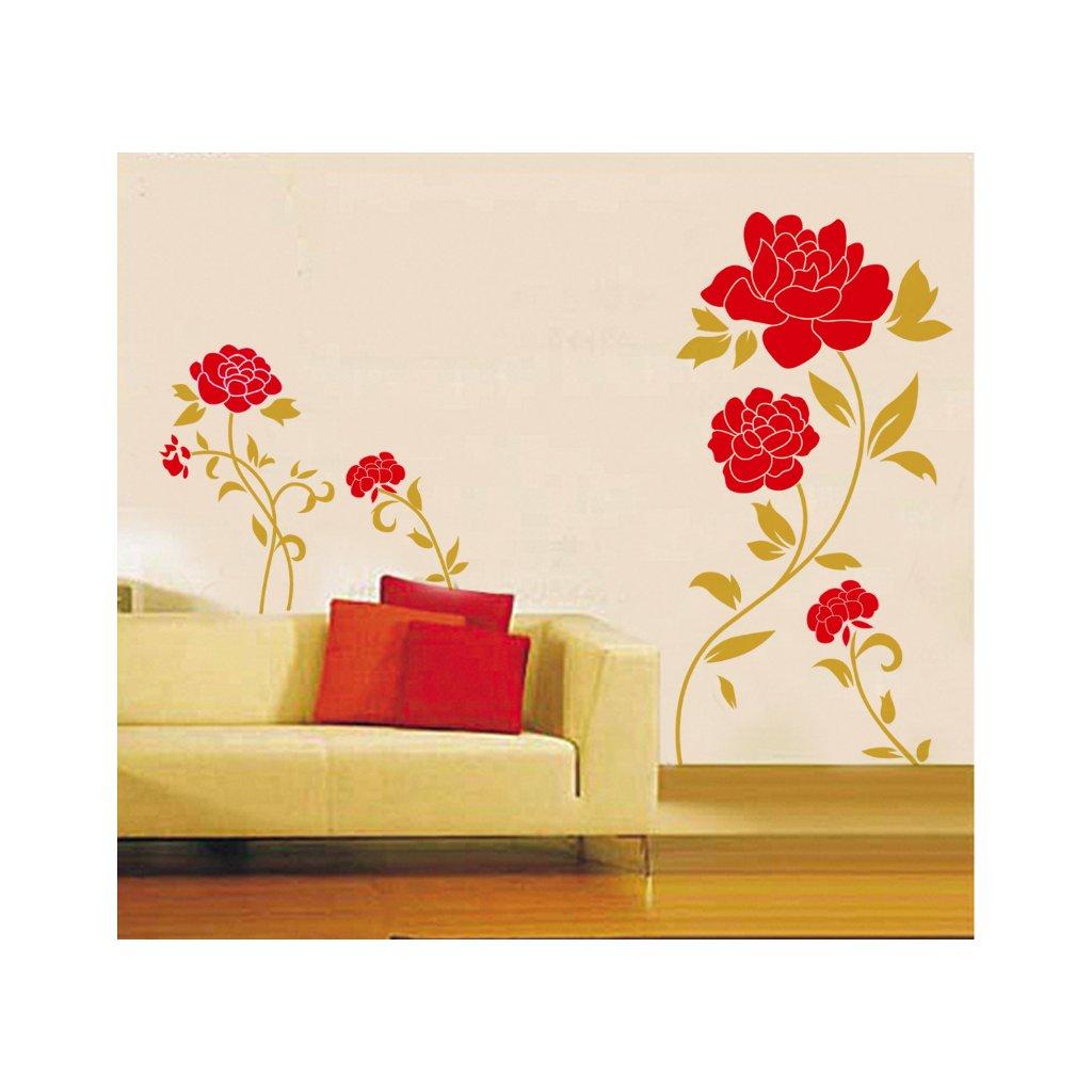 Samolepka na zeď Červené růže