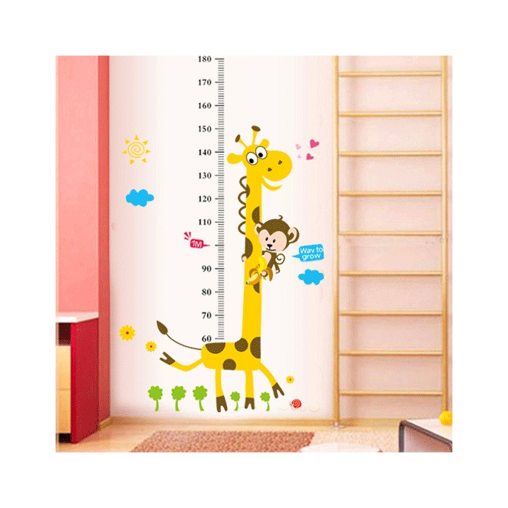 samolepka na zeď Metr Žirafa
