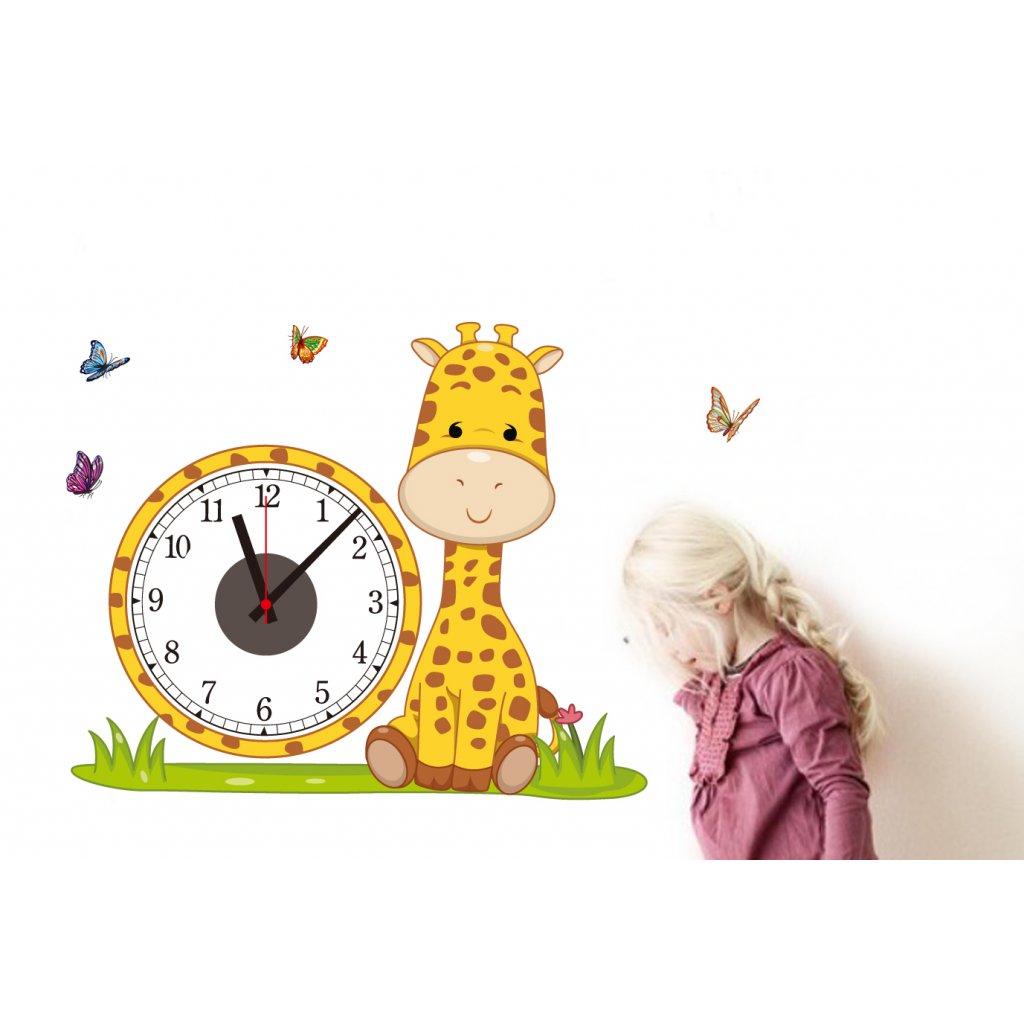 Samolepící dětské hodiny Žirafa