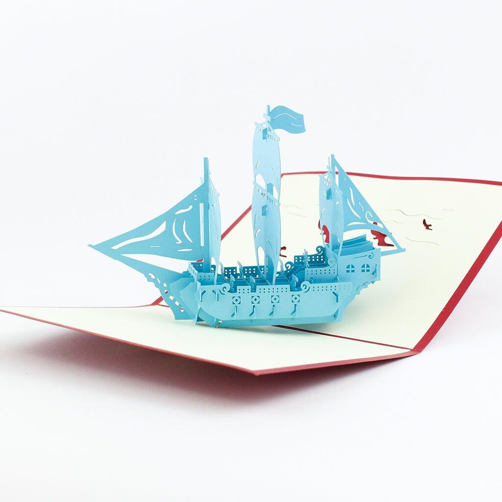 3D přání Tyrkysová loď