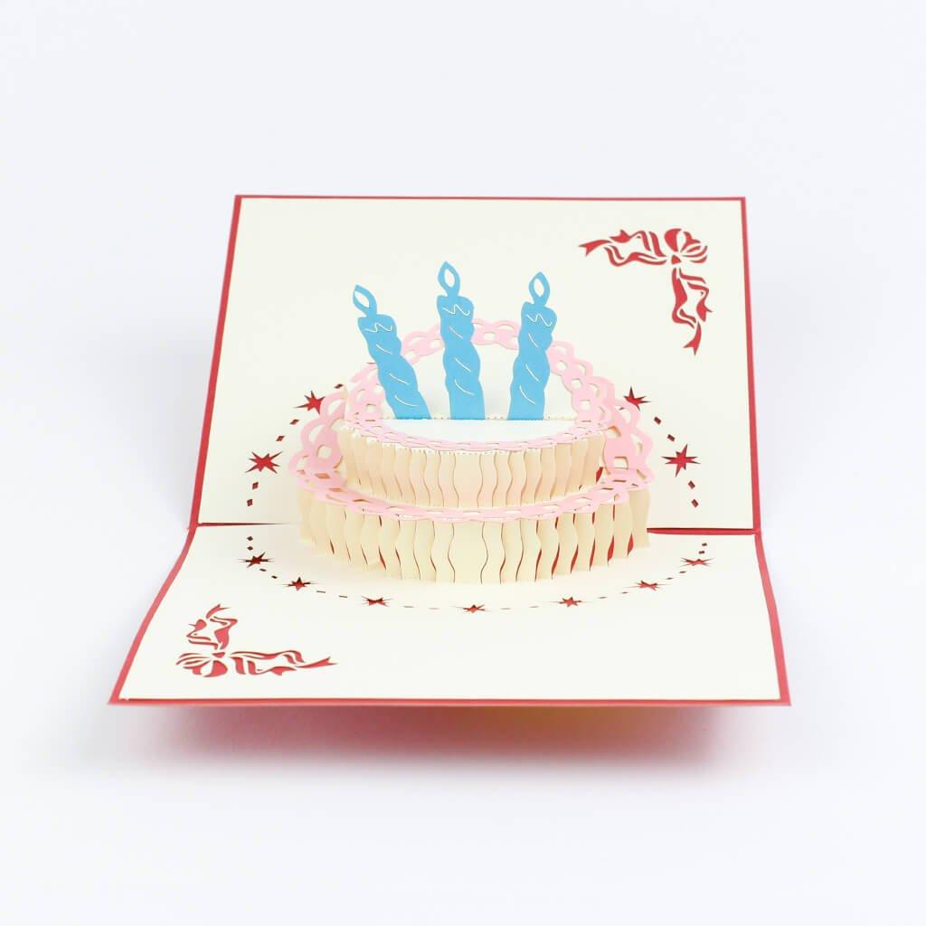 3D přání Narozeninový dort