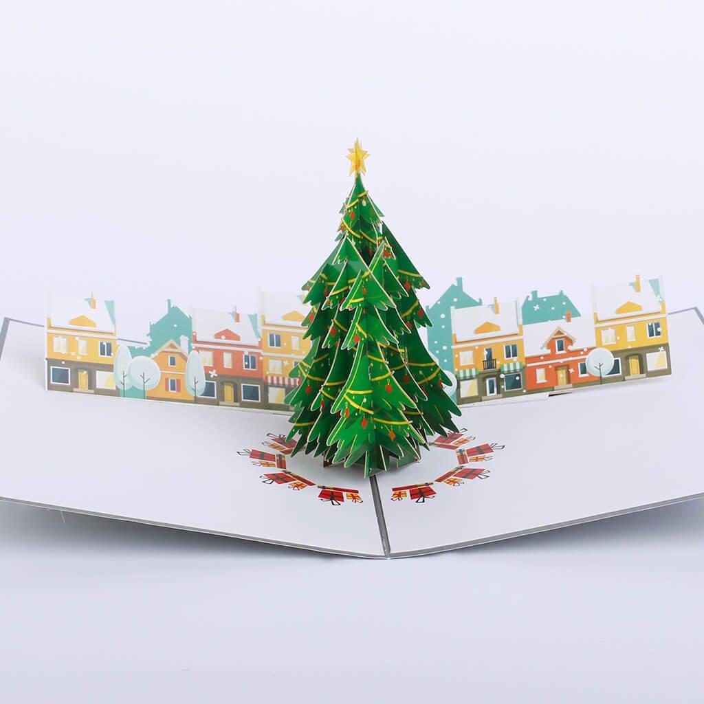 3D přání Vánoční městečko